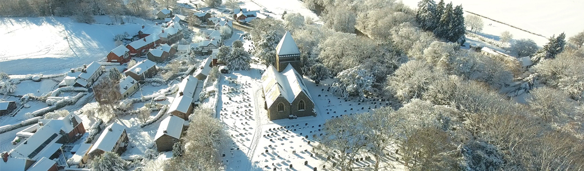 Llandinam Church (Wintery Scene)